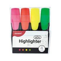 Zvýrazňovače Monami 604-4 sada FLUO Highlighter