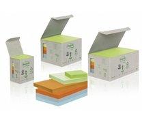 Samolepicí recyklované bloky Rainbow 76x76mm pastelový mix
