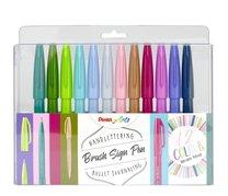 Popisovače štětečkové Pentel touch SES15C-12 sada 12ti odstínů Brush Sign Pen