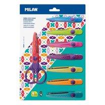 Nůžky s nástavci zig-zag Milan pro kreativní vystřihování