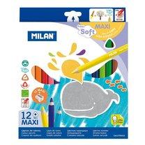 Pastelky Maxi Super Soft Milan 961 12 barev