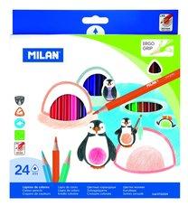 Milan 0722324 trojhranné pastelky
