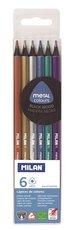Pastelky metalické trojhranné Milan 1031 6 barev